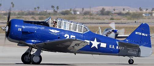 Commemorative Air Force North American SNJ-5 Texan N3246G, Mesa Gateway Airport, March 9, 2012