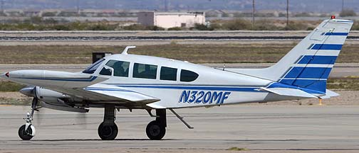 Cessna 320D N320MF, Mesa Gateway Airport, March 9, 2012