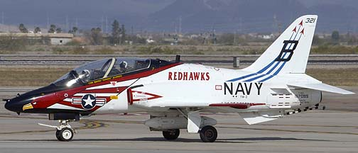 McDonnell-Douglas T-45C Goshawk BuNo 167099 of TW-2 Redhawks, Mesa Gateway Airport, March 9, 2012