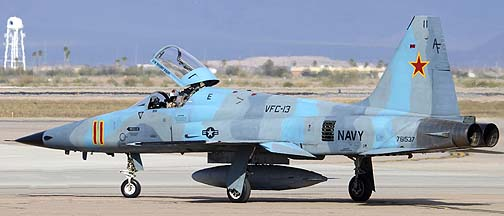 US Navy Northrop F-5N Tiger II 761537 of VFC-13 Saints, Mesa Gateway Airport, March 9, 2012