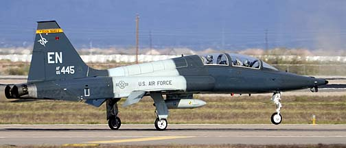Northrop T-38A-60 Talon 65-10445 of the 90th Fighter Training Squadron Boxin' Bears, Mesa Gateway Airport, March 9, 2012