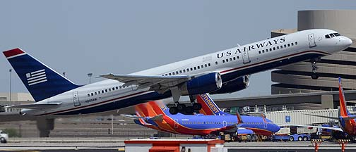 US Airways 757-2S7 N905AW, Phoenix Sky Harbor, August 7, 2012