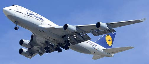 Lufthansa Boeing 747-430 D-ABVU, Los Angeles International Airport, September 21, 2012