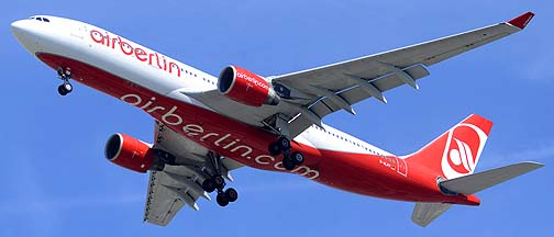 AirBerlin Aiorbus A330-223 D-ALPF, Los Angeles International Airport, September 21, 2012