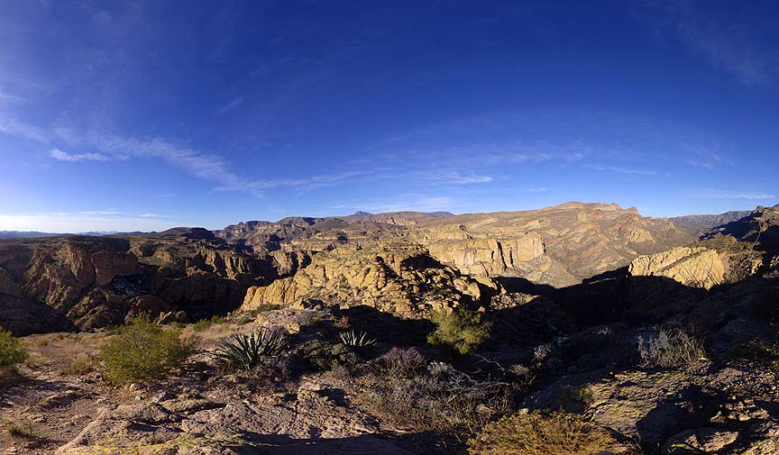 Fish Creek West Overlook, Apache Trail, January 9, 2013