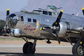 Boeing B-17G Flying Fortress N9323Z Sentimental Journey, Mesa Gateway Airport, March 7, 2014