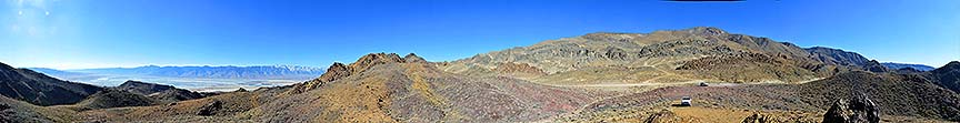 360-degree panorama of the Inyo Mountains and Owens Valley, November 16, 2014