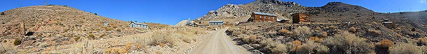 Panorama of the ghost town of Cerro Gordo, November 16, 2014