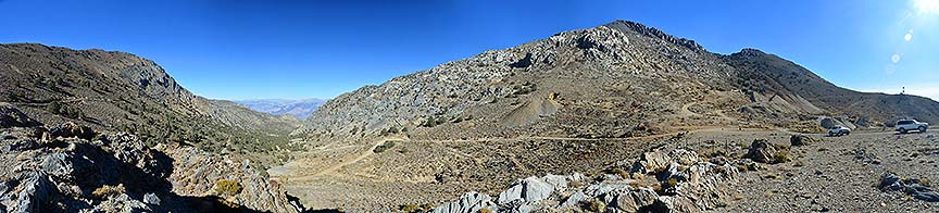 Panorama of Cerro Gordo Pass, November 16, 2014
