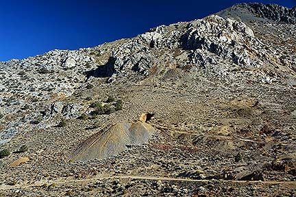 Mine entrance in Cerro Gordo Pass, November 16, 2014