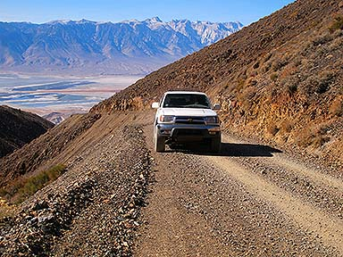 Driving my 4Runner up the Cerro Gordo Road, November 17, 2014