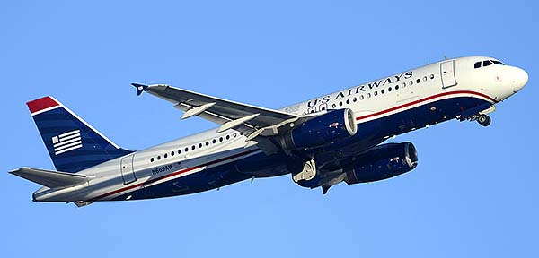 US Airways Airbus A320-232 N669AW, Phoenix Sky Harbor, December 22, 2014
