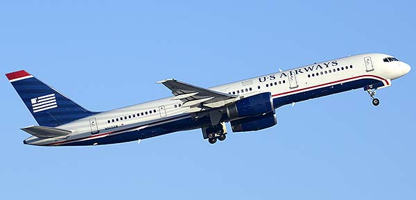 US Airways Boeing 757-2S7 N905AW, Phoenix Sky Harbor, December 22, 2014