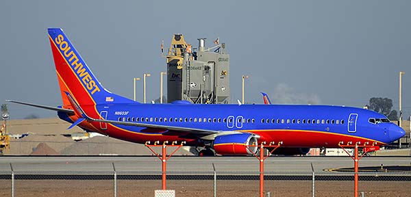 Southwest Boeing 737-8H4 N8603F, Phoenix Sky Harbor, December 22, 2014