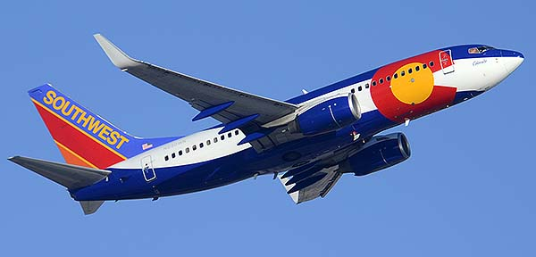Southwest Boeing 737-7H4 N230WN Colorado, Phoenix Sky Harbor, December 22, 2014