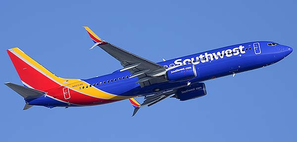 Southwest Boeing 737-8H4 N8654B, Phoenix Sky Harbor, December 22, 2014