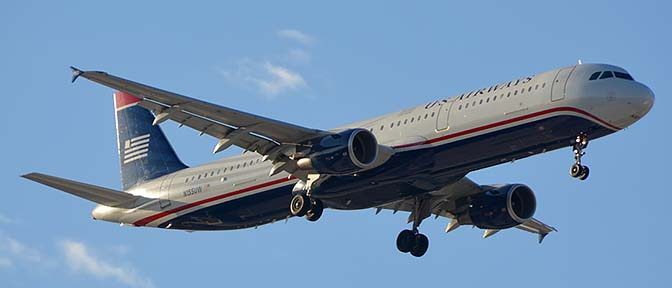 US Airways Airbus A321-211 N155UW, Phoenix Sky Harbor, March 7, 2015