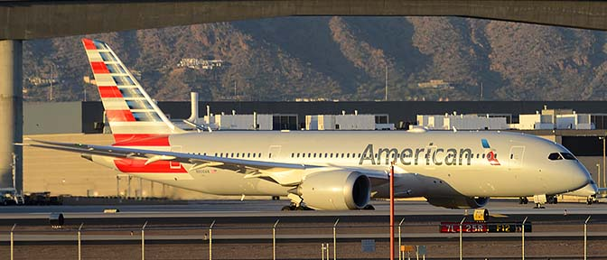 American Airlines' first Boeing 787-823 N800AN, Phoenix Sky Harbor, March 7, 2015