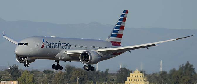 American Airlines 787 at Phoenix Sky Harbor, March 10, 2015