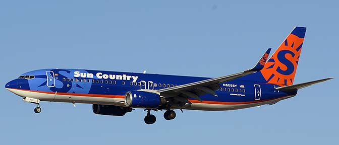 Sun Country Boeing 737-8Q8 N805SY, Phoenix Sky Harbor, December 27, 2015
