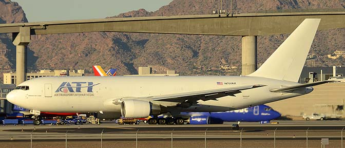 Air Transport International Boeing 767-281 N791AX, Phoenix Sky Harbor, December 27, 2015