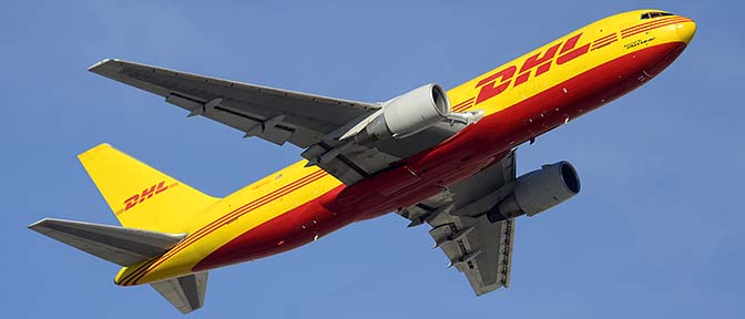 DHL Boeing 767-281F N656GT, Phoenix Sky Harbor, January 2, 2016