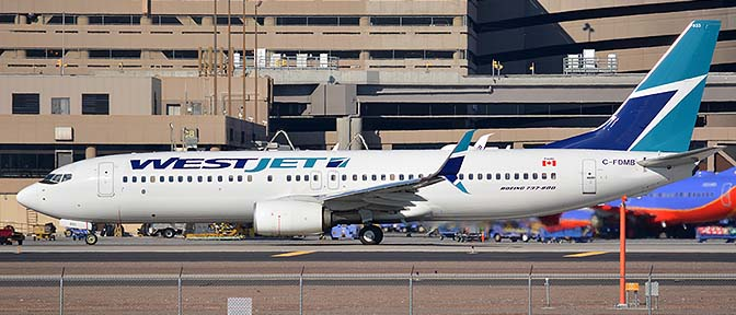 WestJet Boeing 737-8CT C-FDMB, Phoenix Sky Harbor, January 9, 2016