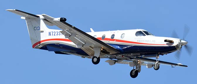 Boutique Air Pilatus PC-12 N723ST, Phoenix Sky Harbor, January 22, 2016