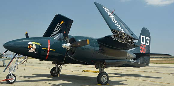 Grumman F7F-3P Tigercat NX700F Here Kitty Kitty, April 29, 2016