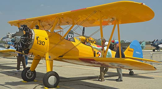 Stearman VN2S-3 Kaydet N66290, April 29, 2016