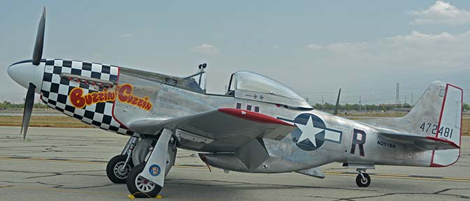 North American P-51D Mustang N251BP Buzzin Cuzzin, April 29, 2016