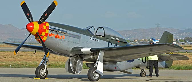 North American P-51D Mustang NL7715C Wee Willy II, April 29, 2016