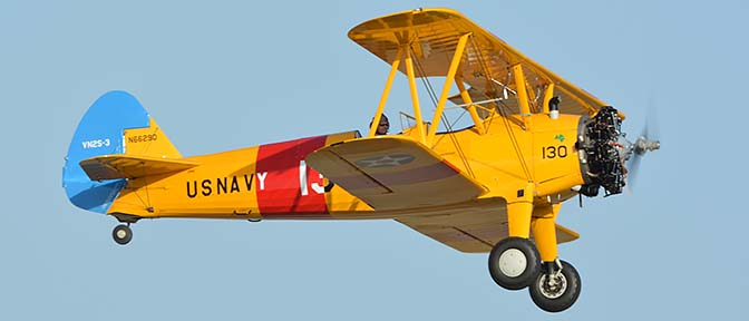 Stearman VN2S-3 N66290 130, April 29, 2016