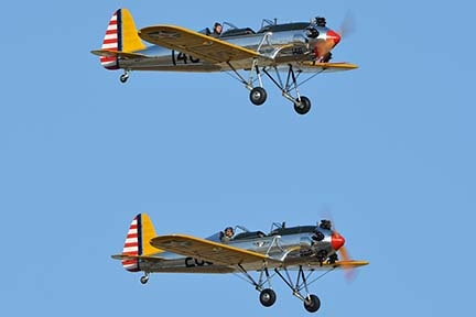 Ryan PT-22 (ST3KR) N48777 146 and N48742 269, April 29, 2016
