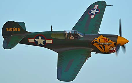 Curtiss P-40K Warhawk N401WH, April 29, 2016