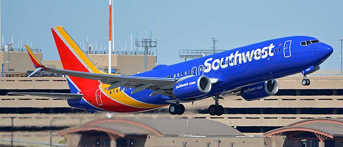 Southwest Boeing 737-800 N8503A, Phoenix Sky Harbor, October 10, 2017