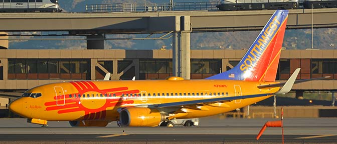 Southwest Boeing 737-7H4 N781WN New Mexico One, Phoenix Sky Harbor, November 11, 2017