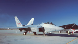 Static displays of the Edwards AFB 1999 Airshow